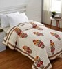 Stoa Paris Block Print Reversible Multicolour Cotton Abstract Single Quilt