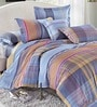Multicolour Cotton Abstract King Bed Sheet (with Pillow Covers) - Set of 3 by Stoa Paris