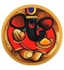 Studio3 Canvas 24 Inch 4159 Round Abstract Ganesha Unframed Painting