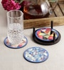 Stybuzz Abstract Art Multicolour MDF Round Coasters - Set Of 4
