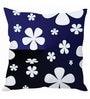 Blue & Black Silk 16 x 16 Inch Cushion Cover by Stybuzz