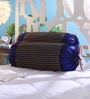 Blue Dupion Silk 16 x 30 Inch Bolster Covers - Set of 2 by Stybuzz