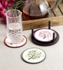 Stybuzz Cherry Trees Multicolour MDF Round Coasters - Set Of 4