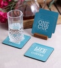 Stybuzz Coffee Quote Multicolour MDF Square Coasters - Set Of 4