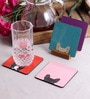 Stybuzz Cute Dogs Multicolour MDF Square Coasters - Set Of 4
