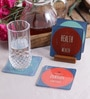 Stybuzz Life Quotes Multicolour Acrylic Square Coasters - Set Of 4