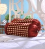 Maroon Dupion Silk 16 x 30 Inch Bolster Covers - Set of 2 by Stybuzz
