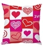 Multicolor Poly Silk 16 x 16 Inch Heart Abstract Cushion Cover by Stybuzz