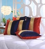 Multicolour Dupion Silk 16 x 16 Inch Cushion Covers - Set of 5 by Stybuzz