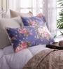 Stybuzz Multicolour Poly Silk 17 x 26 Pillow Cover - Set of 2