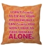 Orange Poly Silk 16 x 16 Inch Fix Your Problem Cushion Cover by Stybuzz