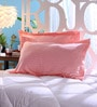 Pink Cotton 18 x 27 Pillow Cover- Set of 2 by Stybuzz