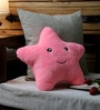 Pink Velvet 12 x 12 Inch Cute Star Abstract Cushion Cover with Insert by Stybuzz