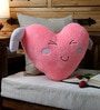 Pink Velvet 16 x 16 Inch Angel Wing Heart Cushion Cover with Insert by Stybuzz