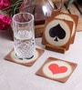 Stybuzz Playing Cards Multicolour Acrylic Square Coasters - Set Of 4