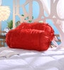 Red Tissue Silk 16 x 30 Inch Bolster Covers - Set of 2 by Stybuzz