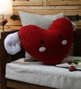 Red Velvet 16 x 16 Inch Angel Wing Heart Cushion Cover with Insert by Stybuzz