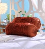 Rust Tissue Silk 16 x 30 Inch Bolster Covers - Set of 2 by Stybuzz