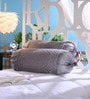 Silver Dupion Silk 16 x 30 Inch Bolster Covers - Set of 2 by Stybuzz