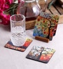 Stybuzz Tree Art Multicolour MDF Square Coasters - Set Of 4