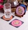 Stybuzz Zodiac Signs Multicolour Acrylic Square Coasters - Set Of 4