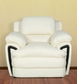 Suberb Recron One Seater Sofa in Ivory Colour