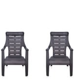 Sunday Leisure Chair Set of 2 in Dark Brown Colour
