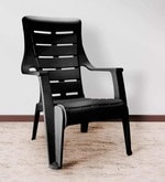 Sunday Outdoor Arm Chair in Black Colour