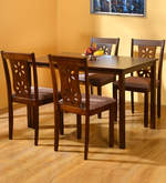 Sutlej Four Seater Dining Set in Antique Cherry Finish