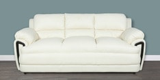 Suberb Recron Three Seater Sofa in Ivory Colour