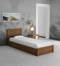 Subaru Single Bed With Box Storage In Bronze Walnut Finish