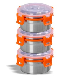 Sumeet Stainless Steel Airtight & Leak Proof Omg Containers - Set Of 3