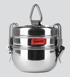 Stainless Steel 500Ml tiffin box - Set Of 2 ...