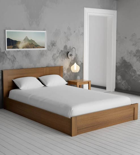 Buy Subaru King Size Bed With Box Storage Bedside Table In Bronze