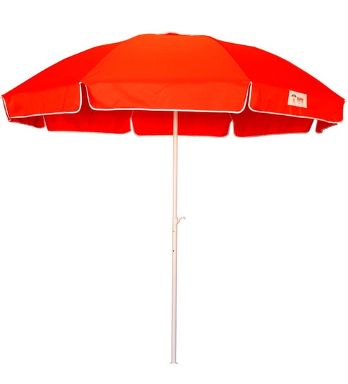 Buy Outdoor Umbrella With 7 Feet Span In Red Colour By Sun Umbrellas