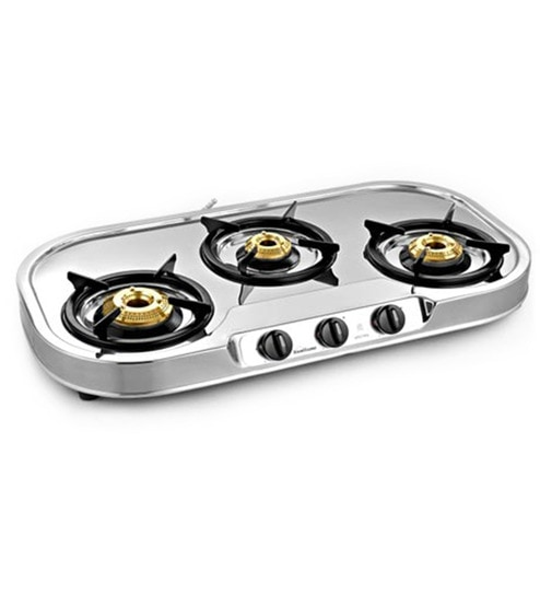 Sunflame Spectra Stainless Steel 3 Burner Cooktop
