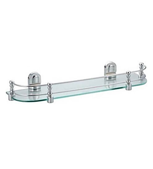 Buy Super Glass 12 x 5.5 x 2.5 Inch Glass Shelf Online - Bathroom ...