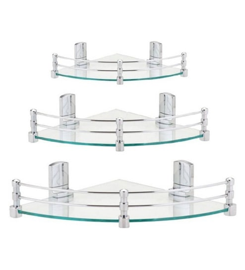 Super Gl Corner Shelves Set Of 3
