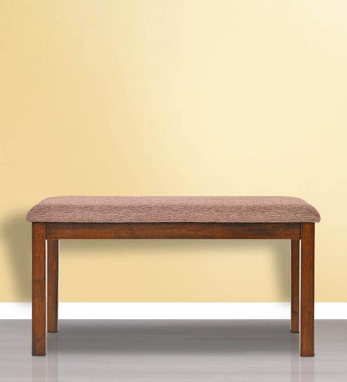 Sutlej Dining Bench In Brown Colour By @home