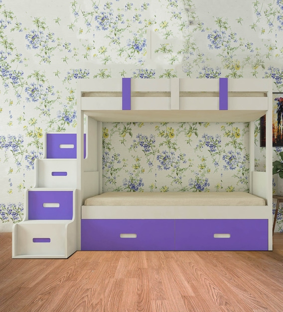 Suvina Twin Bunk Bed With Storage, Bunk Bed With Trundle And Storage Drawers