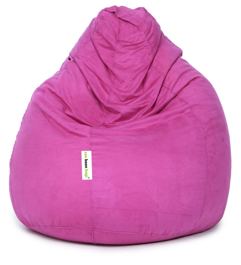 b04c799c4e Buy Suede Bean Bag Cover without Beans in Light Purple Colour by Can ...