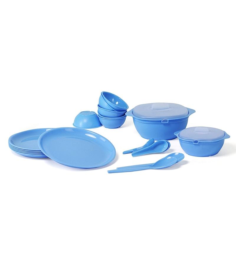 Sugam Blue Omega Microwave Safe Dinner Sets