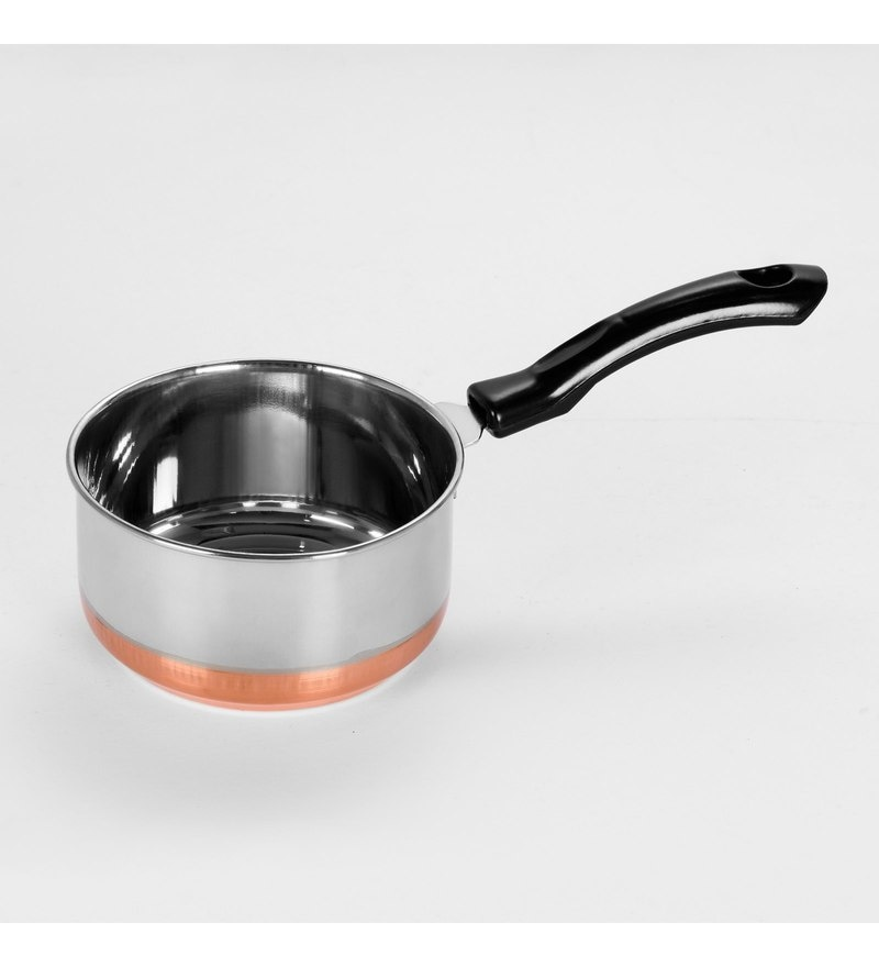 Sumeet Stainless Steel Copper Bottom Saucepan with Handle