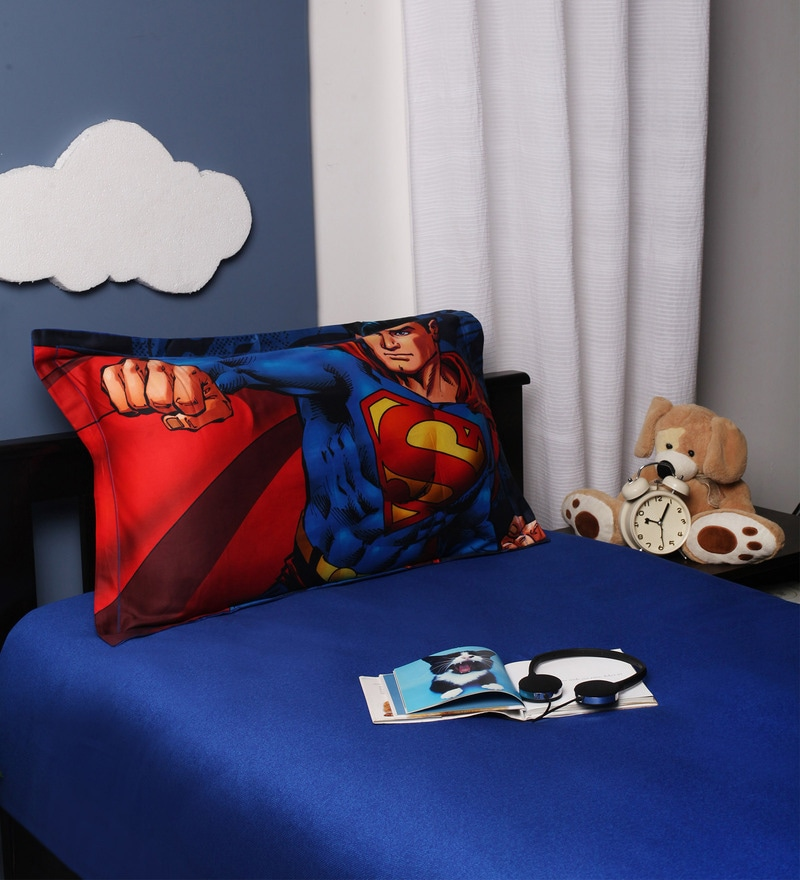Superman Single Bedsheet in Multicolour by Portico New York