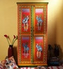 Shreenathji Hand Painted Painted Almirah (Wardrobe) by Mudramark