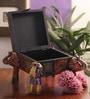 Suriti Multicolour Wooden Elephant Jewellery Box