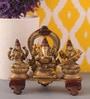 Suriti Copper Brass Ganesh Laxmi Saraswati Idol
