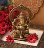 Suriti Golden Brass Ganesha Idol