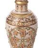 Suriti Gold on White Marble Flowers Vase