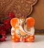 Suriti Multicolor Stoneware Marble Ganesha Idol